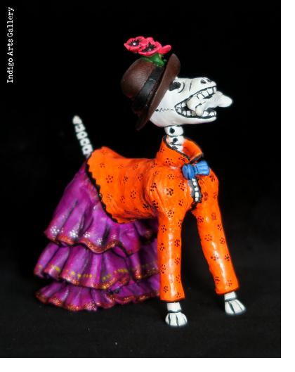 Calavera Dog in Fancy Dress