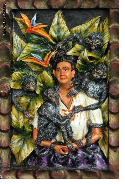 """Frida Kahlo """"Wounded Deer"""" - retablo"""