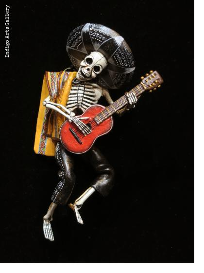 Mariachi of the Dead - retablo sculpture