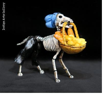 Calavera Dog Baker - Retablo Figure