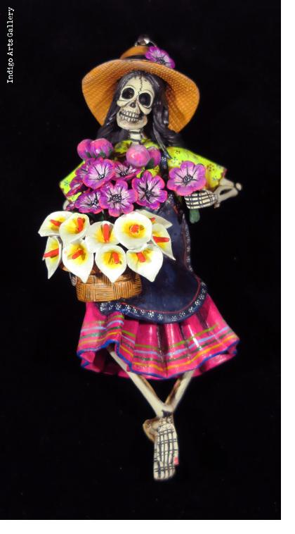 Flower Girl of the Dead - Retablo Ornament