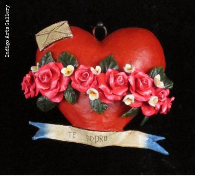 """Te Adoro"" Retablo Heart Ornament"