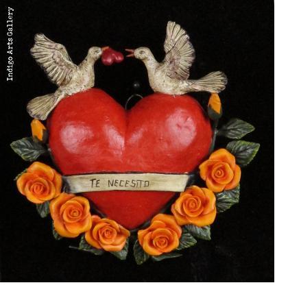 """""""Te Necesito"""" Retablo Heart Ornament"""