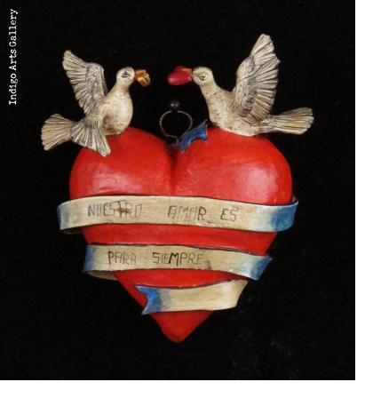 """""""Nuestro Amor es para Siempre"""" Retablo Heart Ornament"""