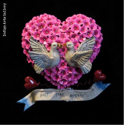 """""""Naci para Amarte"""" Retablo Heart Ornament"""