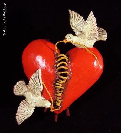 Mending a Broken Heart -  Retablo Ornament