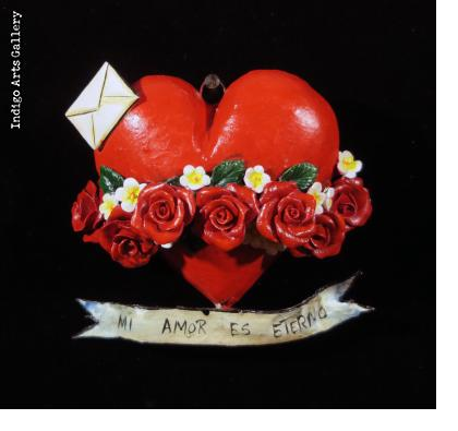 """Mi Amor Es Eterno"" Retablo Heart Ornament"