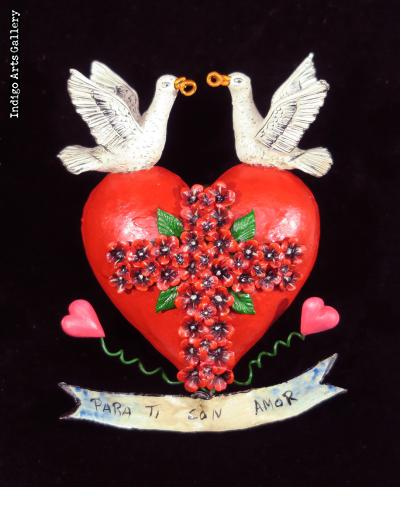 """Para Ti con Amor"" (For you with love) Retablo Heart Ornament"