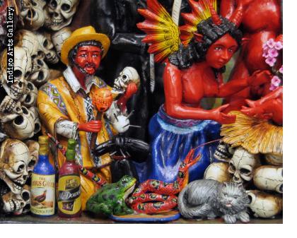 """""""Nacimiento de los Diablos"""" (Devils' Nativity) Retablo"""