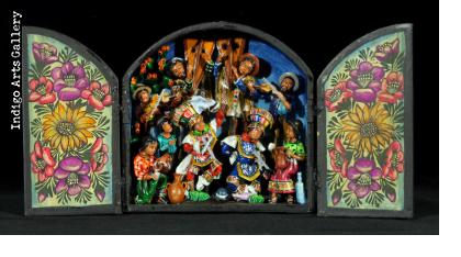 Danza de Tijeres (Dance of the Scissors) - Mini-Retablo