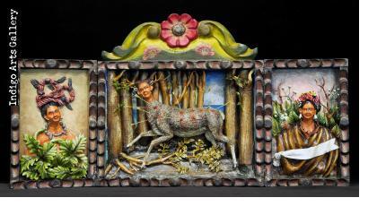 """Frida Kahlo retablo - """"Wounded Deer"""""""