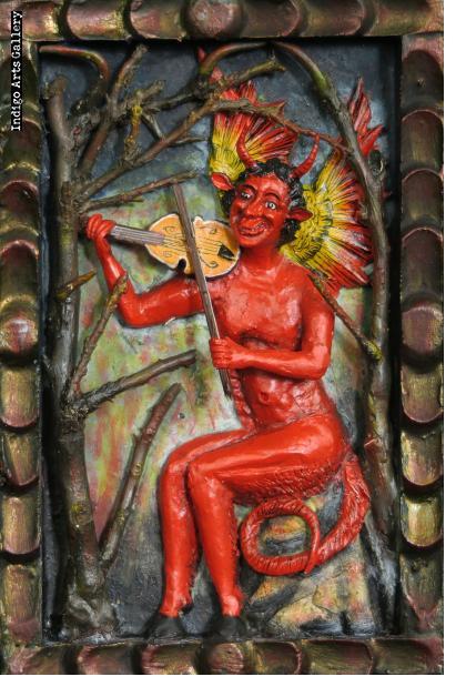 Nacimiento de los Diablos - retablo