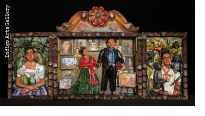 Frida y Diego - retablo