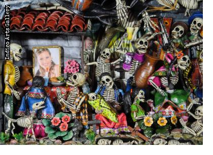 Party in the Cemetery - Day of the Dead Retablo (Version 20)
