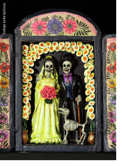 Los Novios Muertos - Wedding Retablo (version 6)