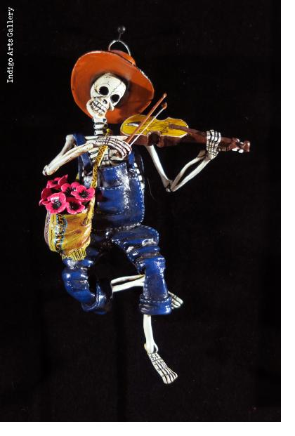Hillbilly Fiddler of the Dead - retablo figure