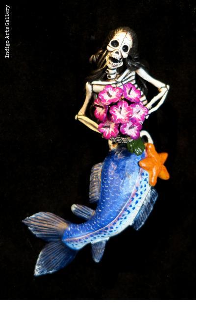 La Sirena Calavera - retablo figure