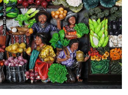 Mercado de las Verduras (Produce Market) Retablo