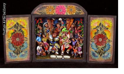 Danza de las Tijeras (Dance of the Scissors) - Retablo