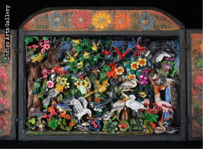 Birds of Paradise - Retablo
