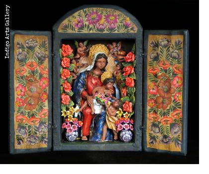 La Virgen - Retablo