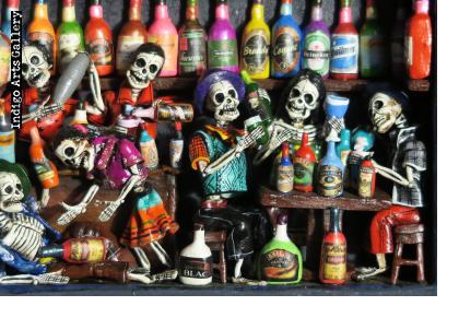 Cantina de los Muertos (Cantina of the Dead) - Retablo