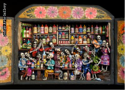 Cantina de los Muertos (Cantina of the Dead) - Retablo (Version 5)