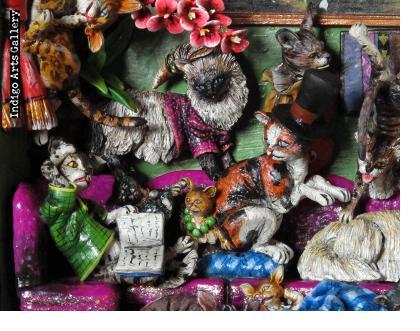 Casa de Gatos (House of Cats) Retablo