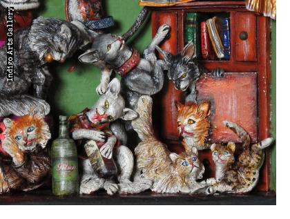 Casa de Gatos (House of Cats) Retablo