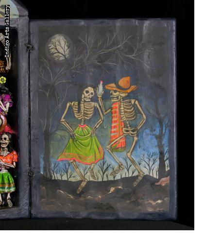 Danza Tijeres de Esqueletos (Dance of the Scissors) Retablo (version 5)