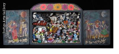 Party in the Cemetery - Day of the Dead Retablo (Version 15)