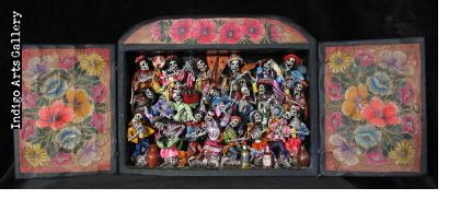 Fiesta de los Muertos (Party of the Dead) Retablo