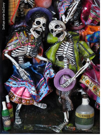 Fiesta de los Muertos (Carnival of the Dead) - Retablo