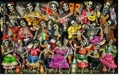 Fiesta de los Muertos (Carnival of the Dead) - Retablo (version 5)