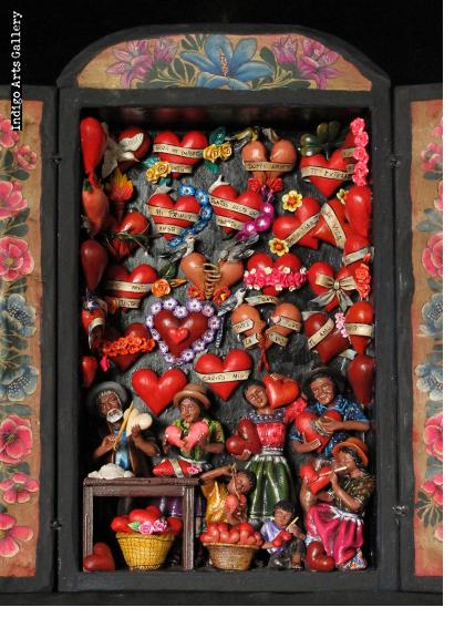 Taller de Corazones (Valentine Workshop) Retablo (version 6)