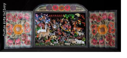 Nacimiento Campesino (Peasant Nativity) Retablo