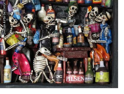 Cantina de los Muertos (Cantina of the Dead) - Retablo (version 3)