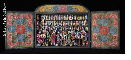 Cantina de los Muertos (Cantina of the Dead) - Retablo (version 4)