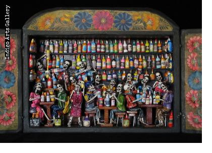 Cantina de los Muertos (Cantina of the Dead) - Retablo (version 4)