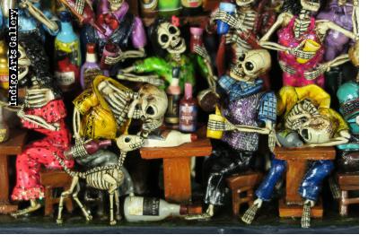 Cantina de los Muertos (Cantina of the Dead) Retablo (version 8)