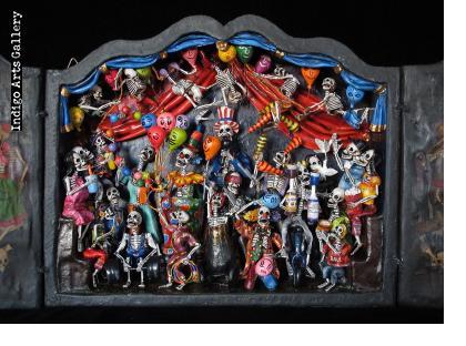 Circo de los Muertos (Circus of the Dead) - Retablo