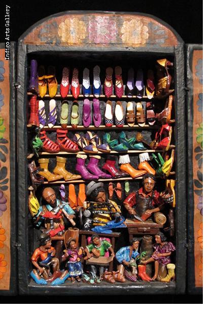 Tienda de Zapatos (Shoe Shop) Retablo
