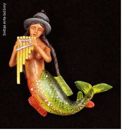Retablo La Sirena (Mermaid) Ornament