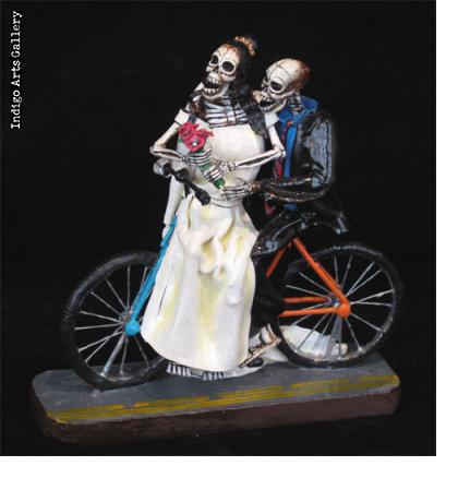 Novias Calaveras on Bicycle