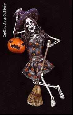Skeleton Witch - Retablo figure