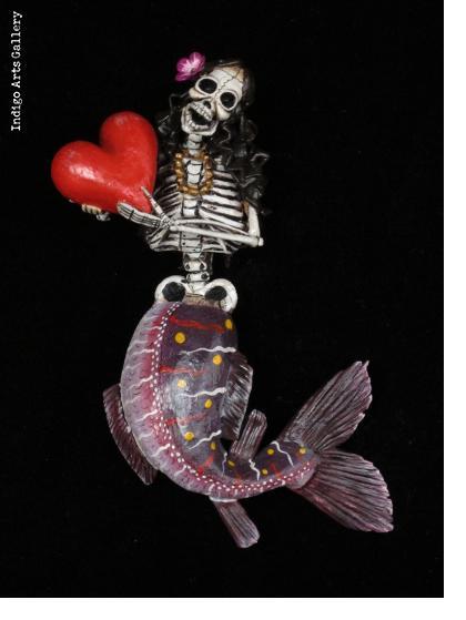 La Sirena Muerta - retablo ornament