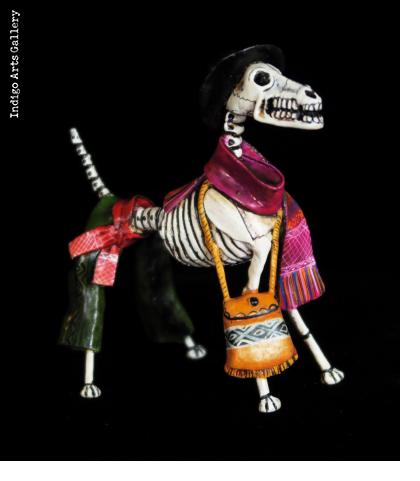 Calavera Dog - Retablo Figure