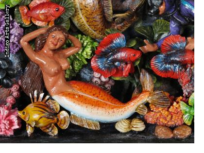 Las Sirenas Bajo el Mar (Under the Sea) Retablo