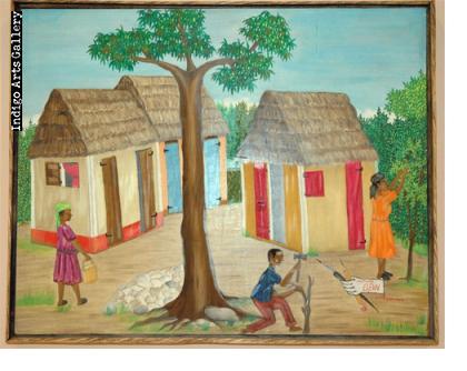 Claude Obin Cutting Wood