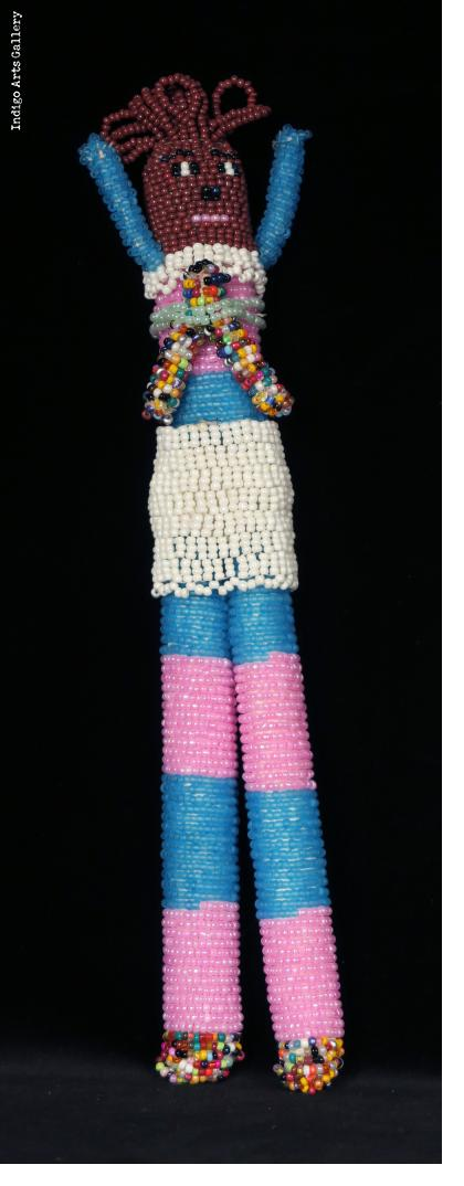 "Beaded ""Tall Doll"" with Baby"